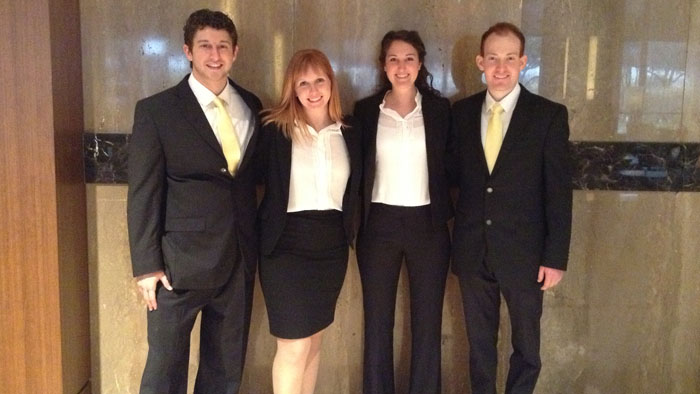MBA students at the National Sports Forum Case Cup Competition