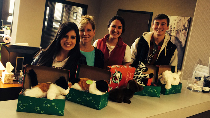 MBA students participating in Operation Christmas Shoebox